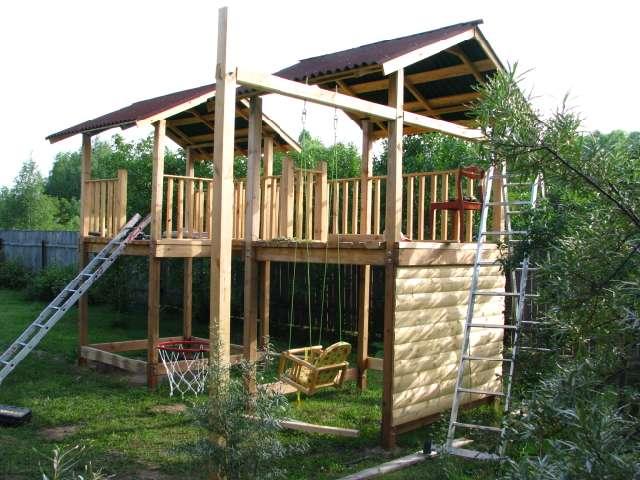 Детский городок: готовые варианты, строительство