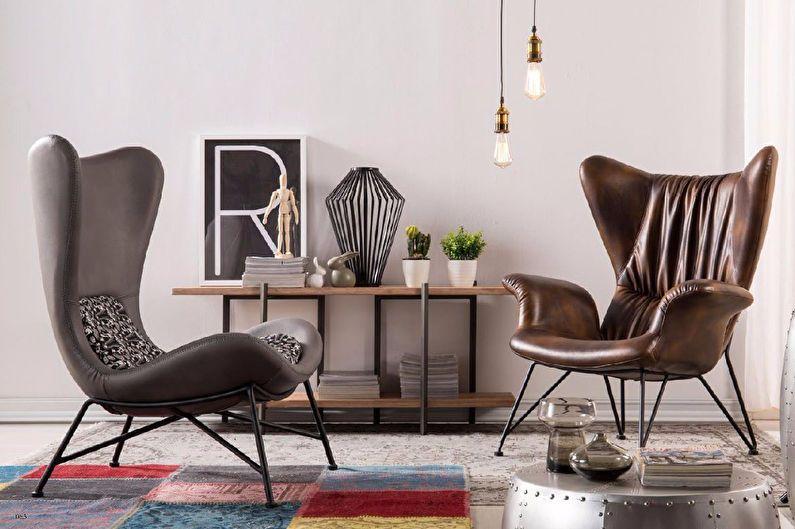 Стиль хай-тэк это всегда минимум мебели и декора