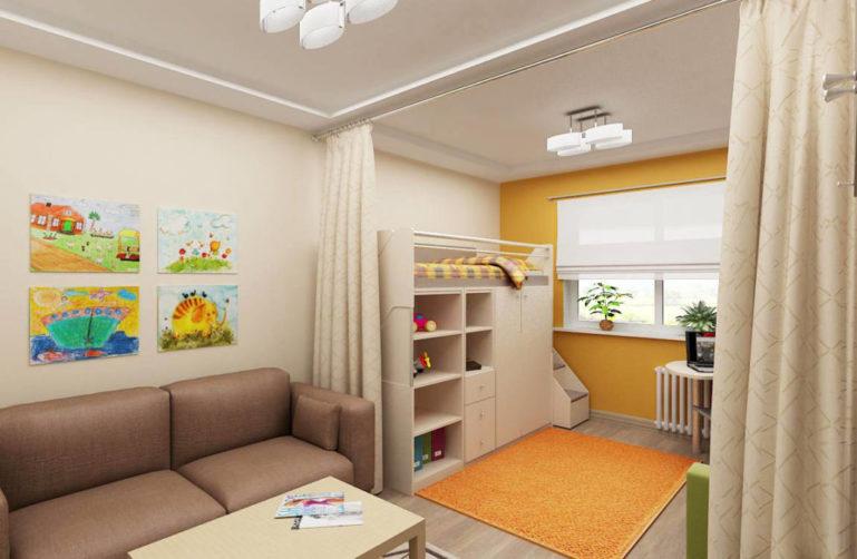 Ковры будут служить не только разделением, но и дополнять интерьер всей комнаты