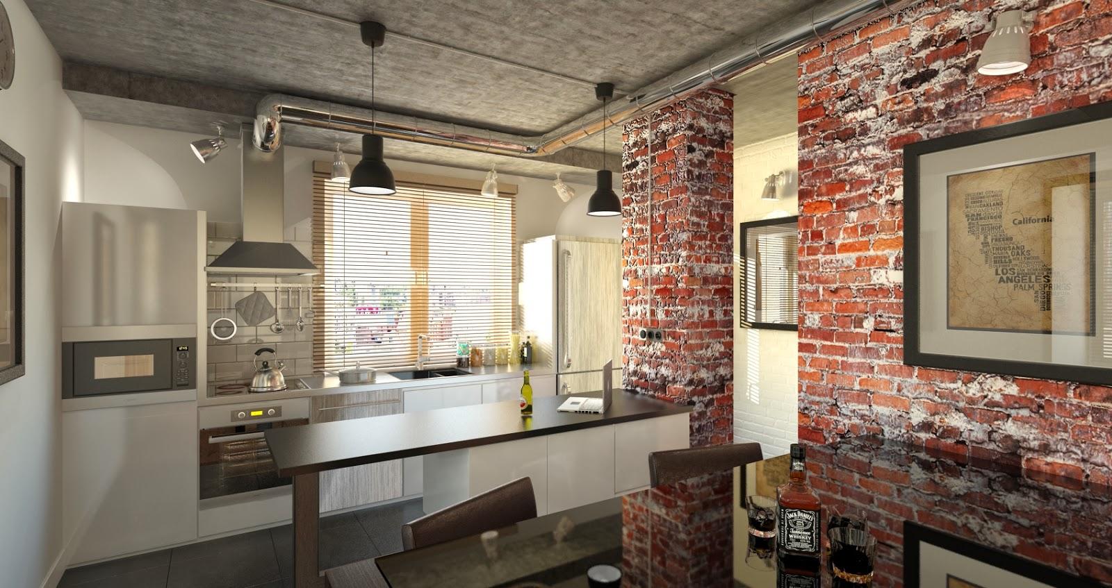 Кирпичные стены, обилие металлических предметов, грубо обработанное деревянное покрытие – все это стиль лофт