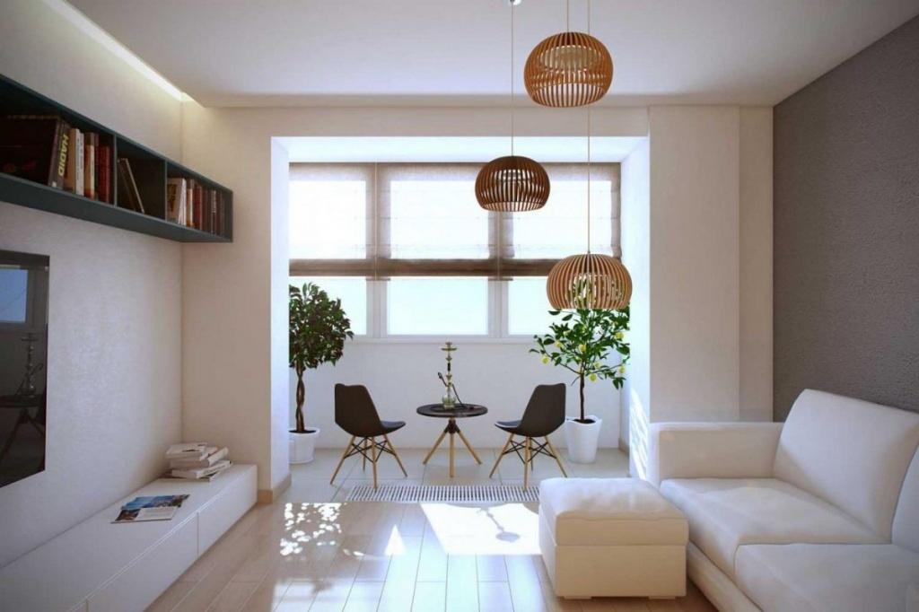 Решили сделать перепланировку и совместить балкон для увеличения пространства - это правильное решение в интерьере маленьких комнат