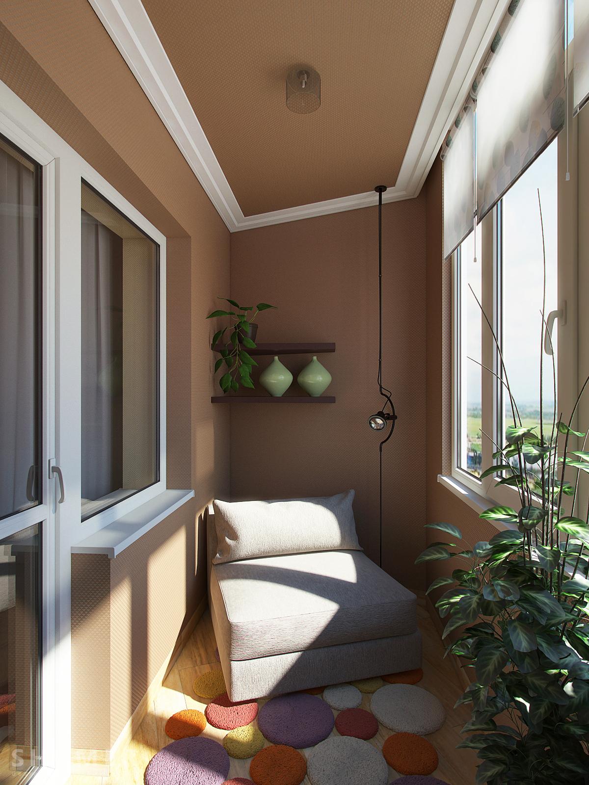 Расположив кресло на балконе можно уединиться от насущных проблем и отдохнуть