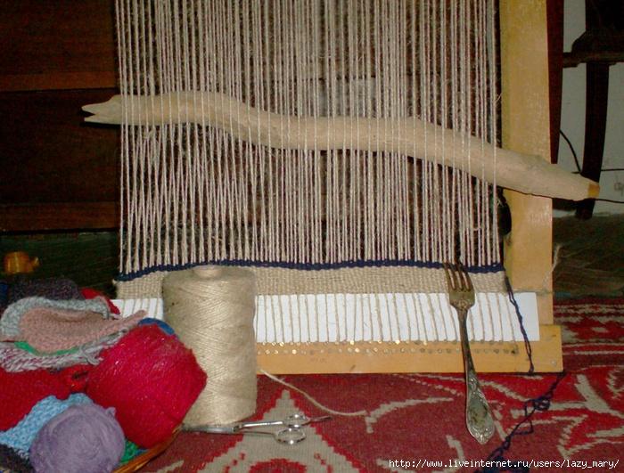 Изготовление ковра ручным способом