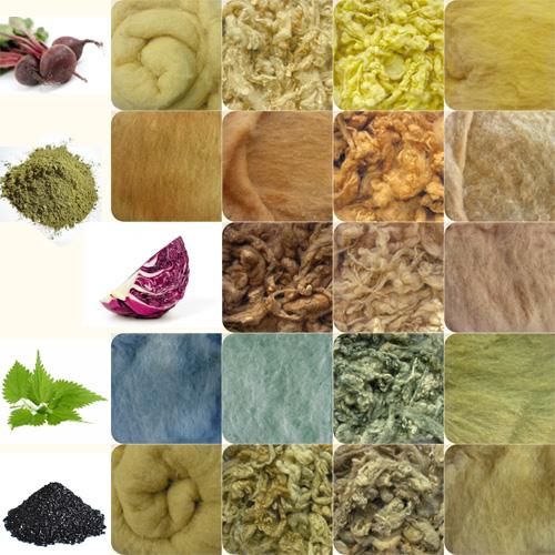 Окрашивание ковров происходило только из натуральных красителей как: скорлупа грецкого ореха, шелуха лука, корень мирены, ромашка или крапива