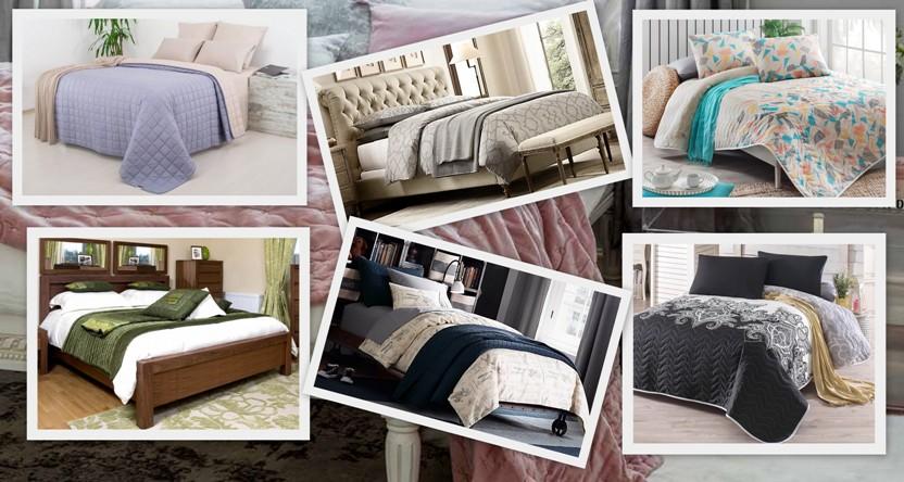 Интересно и красиво смотрится когда на постеленное покрывало посередине или ближе к концу кровати кладут еще какой-то текстиль, в виде пледа или маленького одеяла