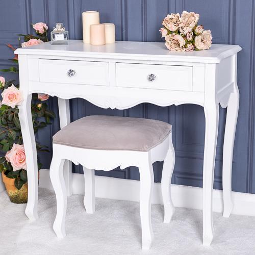 Столик-консоль белого цвета