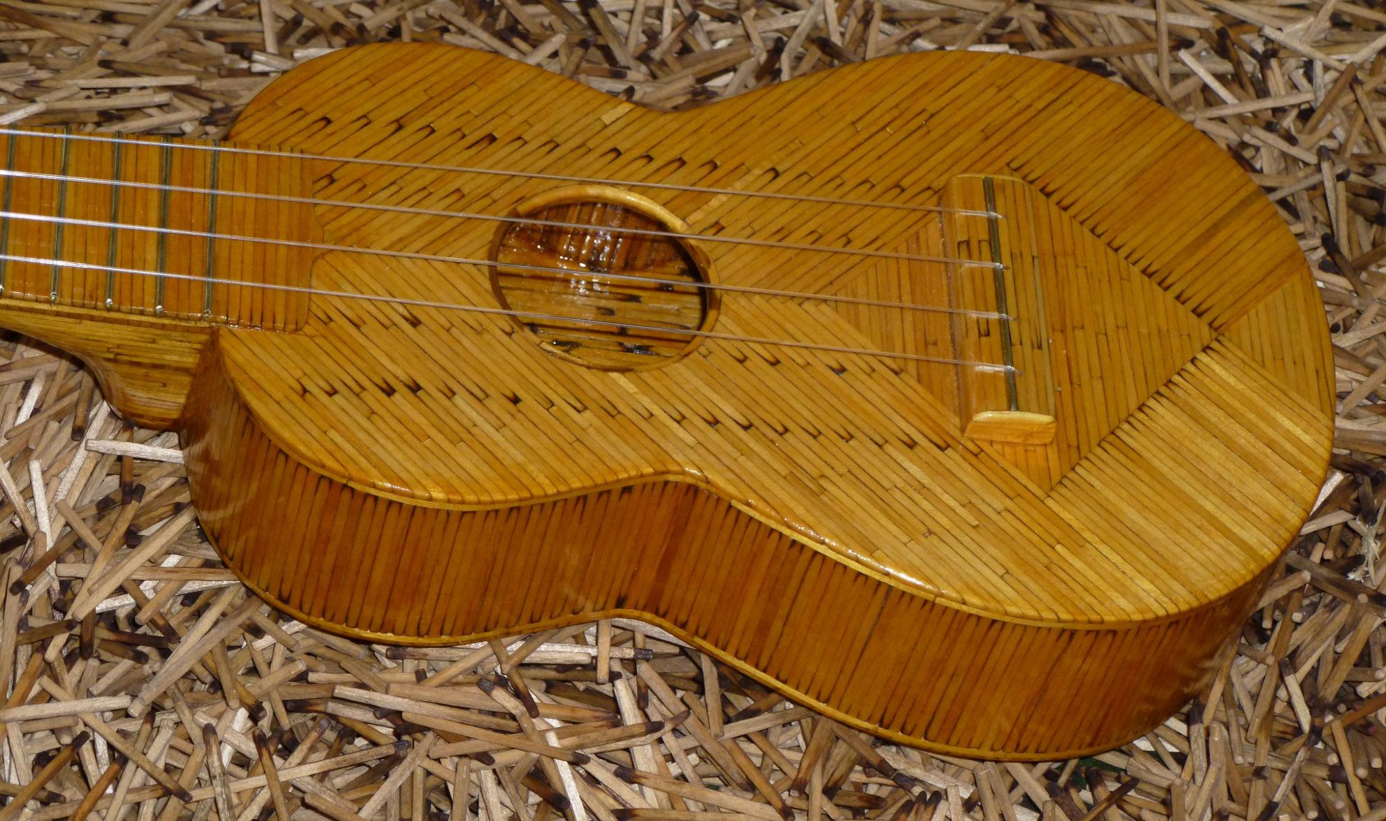 Гитара из спичек в подарок другу