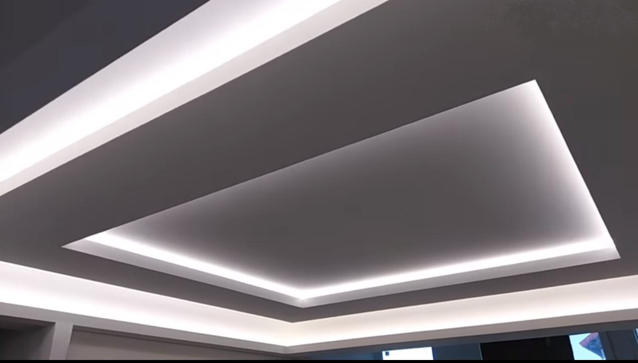 парящие потолки фото из гипсокартона вариант для