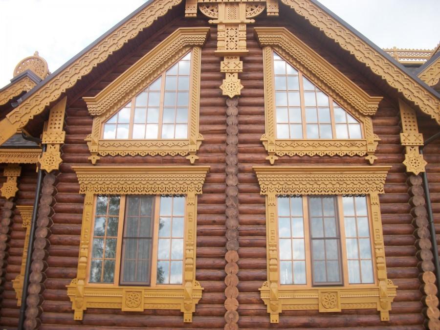 Наличники в деревянном доме