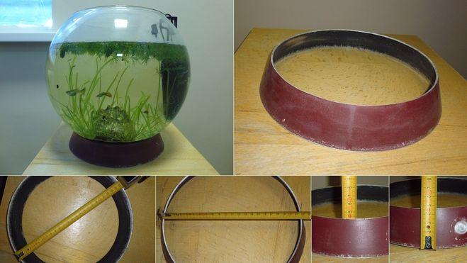 Из старой сковородки может получиться неплохая подставка для аквариума
