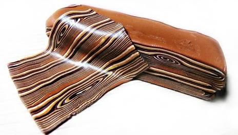 Имитация среза древесины при помощи полимерной глины.