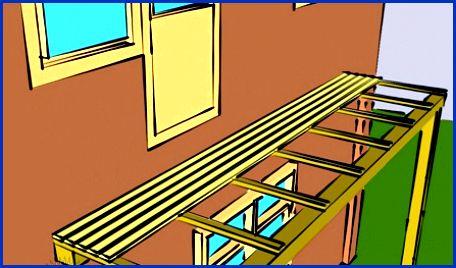 Изготовление каркаса балкона