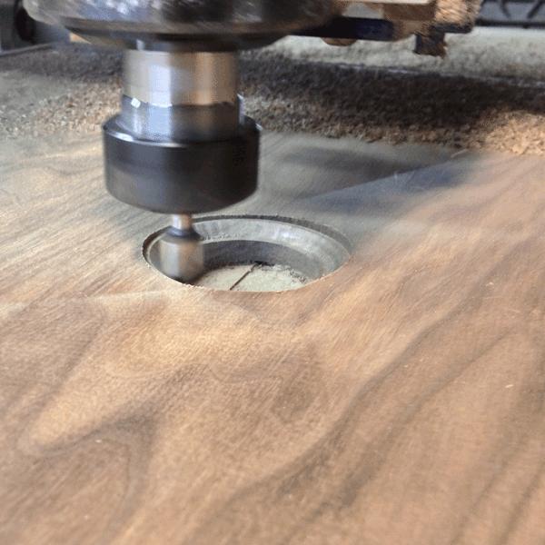 Изготовление сливного отверстия в деревянной раковине