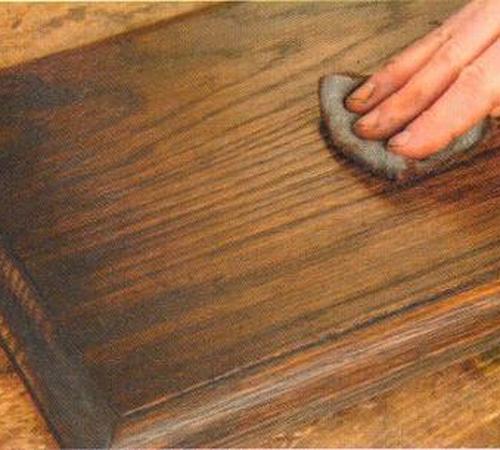Как сделать эффект состаривания мебели наждачной шкуркой