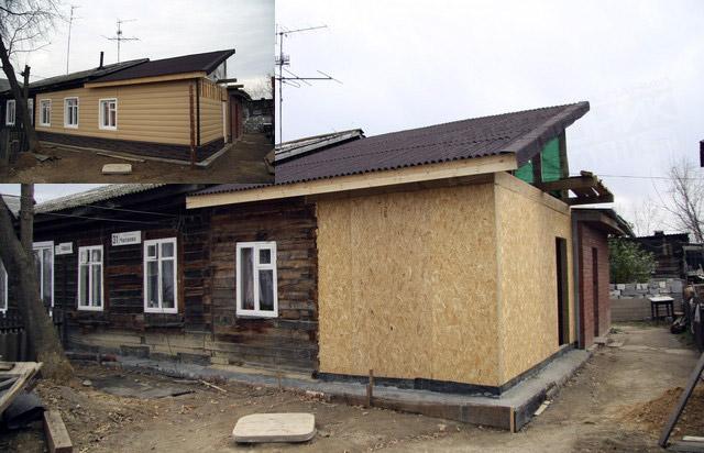 Каркасные пристройки к деревянному дому можно возвести быстро и недорого