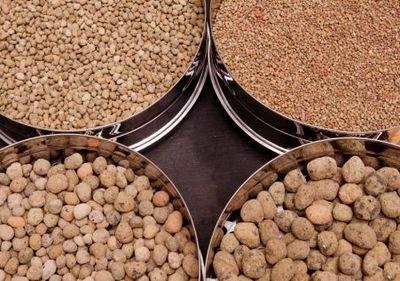Керамзит разных фракций: керамзитовый песок, мелкая, средняя и крупная фракция
