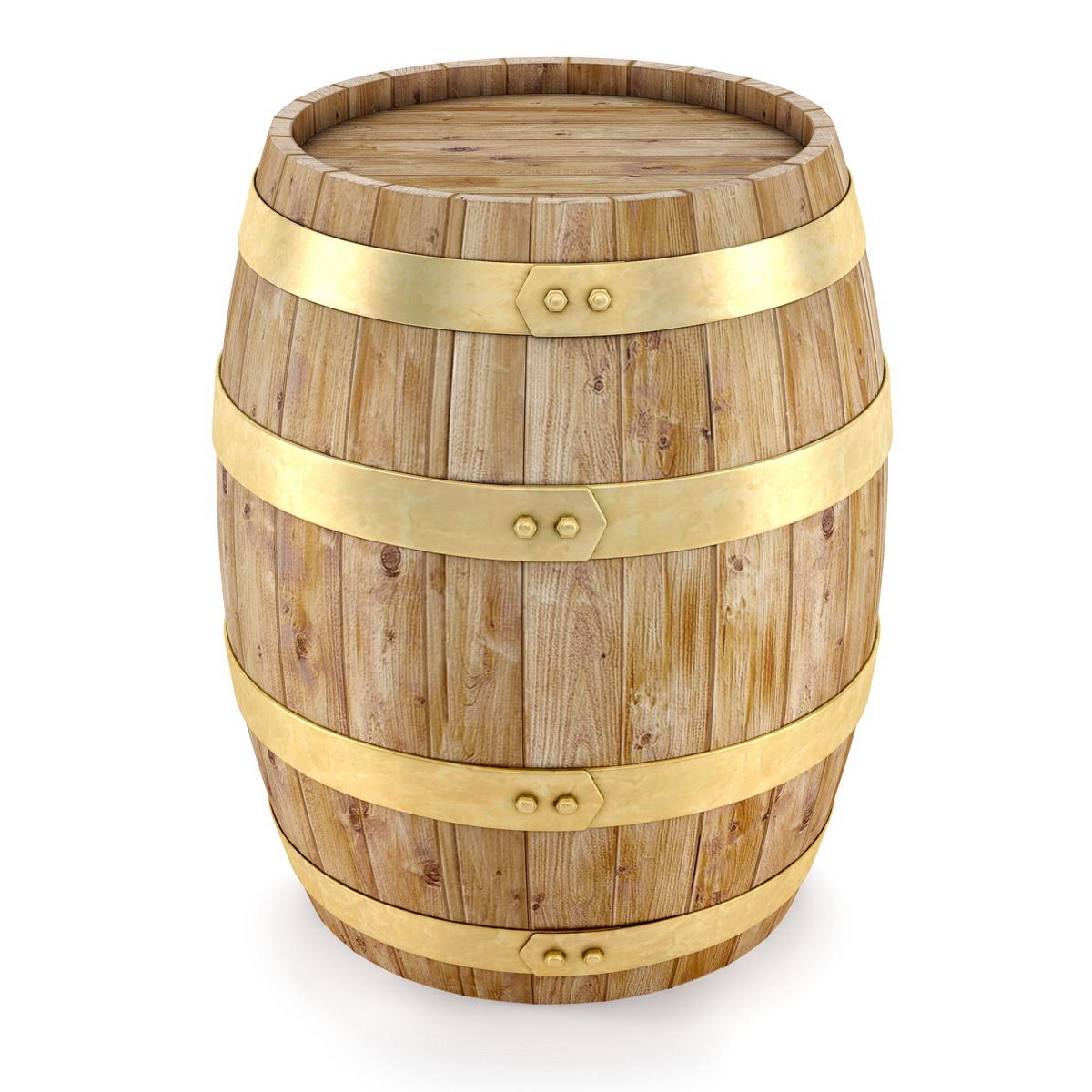 Классическая деревянная бочка