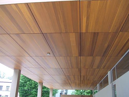 Клееные панели с влагостойкой пропиткой используются даже снаружи зданий