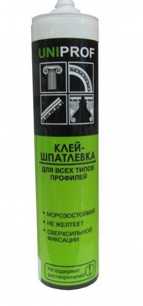 Клей - шпатлевка для потолочного плинтуса на основе полиэфирных смол
