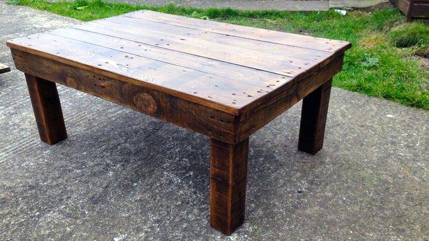 Кофейный столик из б/у деревянных паллет