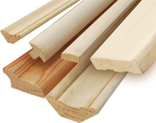 Конфигурация поперечного сечения деревянного плинтуса зависит от формы фрезы