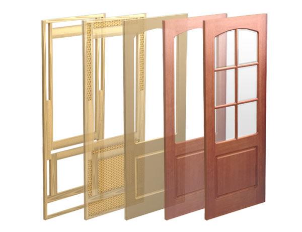 Конструкция каркасных дверей