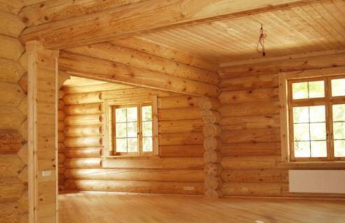 Красота внутреннего интерьера бревенчатого дома