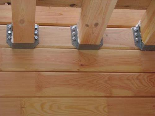 Крепление балок в деревянном доме в наше время производится с помощью специальных высокопрочных опор