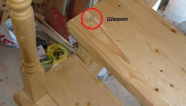 Крепление балясин к деревянной лестнице