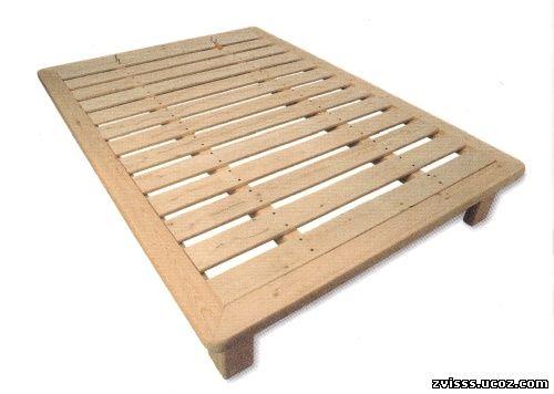 Кровать из березы в японском стиле собрать очень просто.