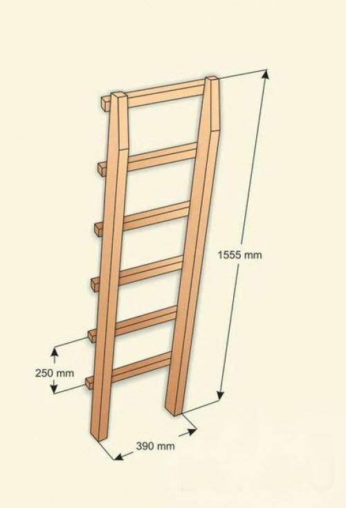 Линейные размеры лестничной конструкции.