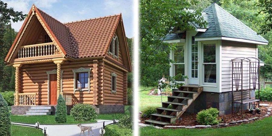 Маленькие деревянные строения