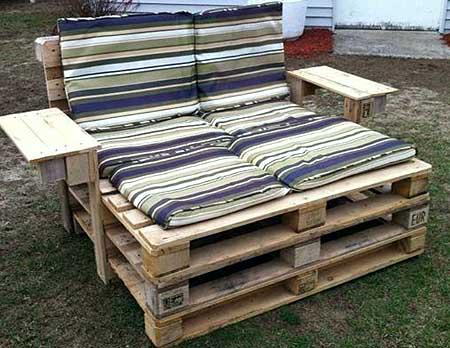 Мебель из старых досок – использованы деревянные поддоны