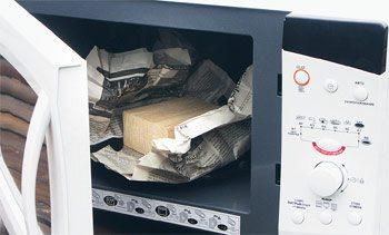 Микроволновка поможет быстро высушить небольшие элементы