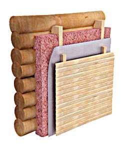 Многослойная конструкция утепленной стены