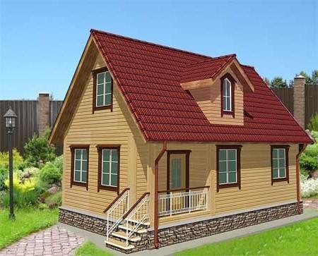 Модель здания, построенного по типовому проекту