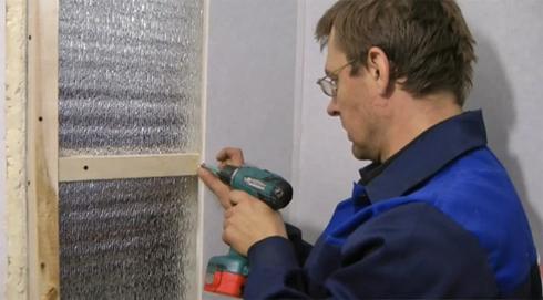 Монтаж пластиковых панелей на стену с утеплением