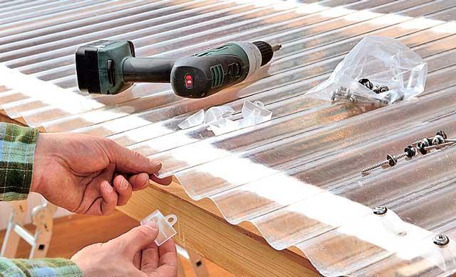 Монтаж саморезов с термошайбами