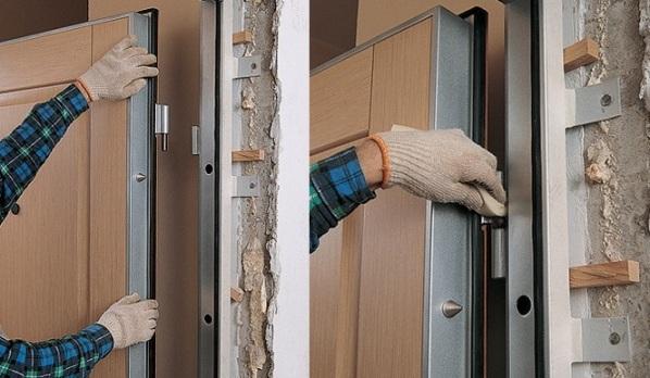 Монтаж входной железной двери