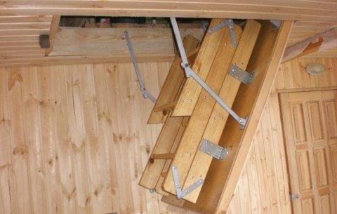 Можно самостоятельно изготовить чертежи приставной деревянной лестницы своими руками