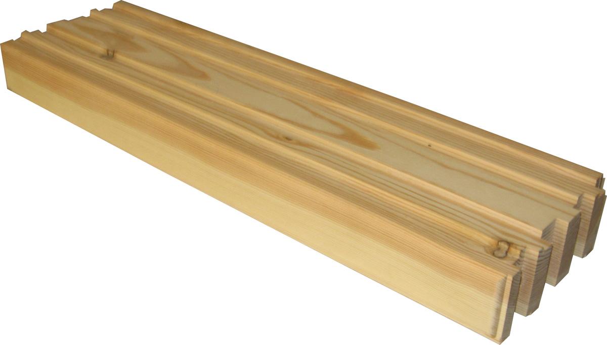 На фото - деревянный кирпич