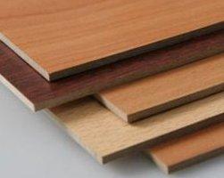 На фото - ламинированные древесно-волокнистые плиты