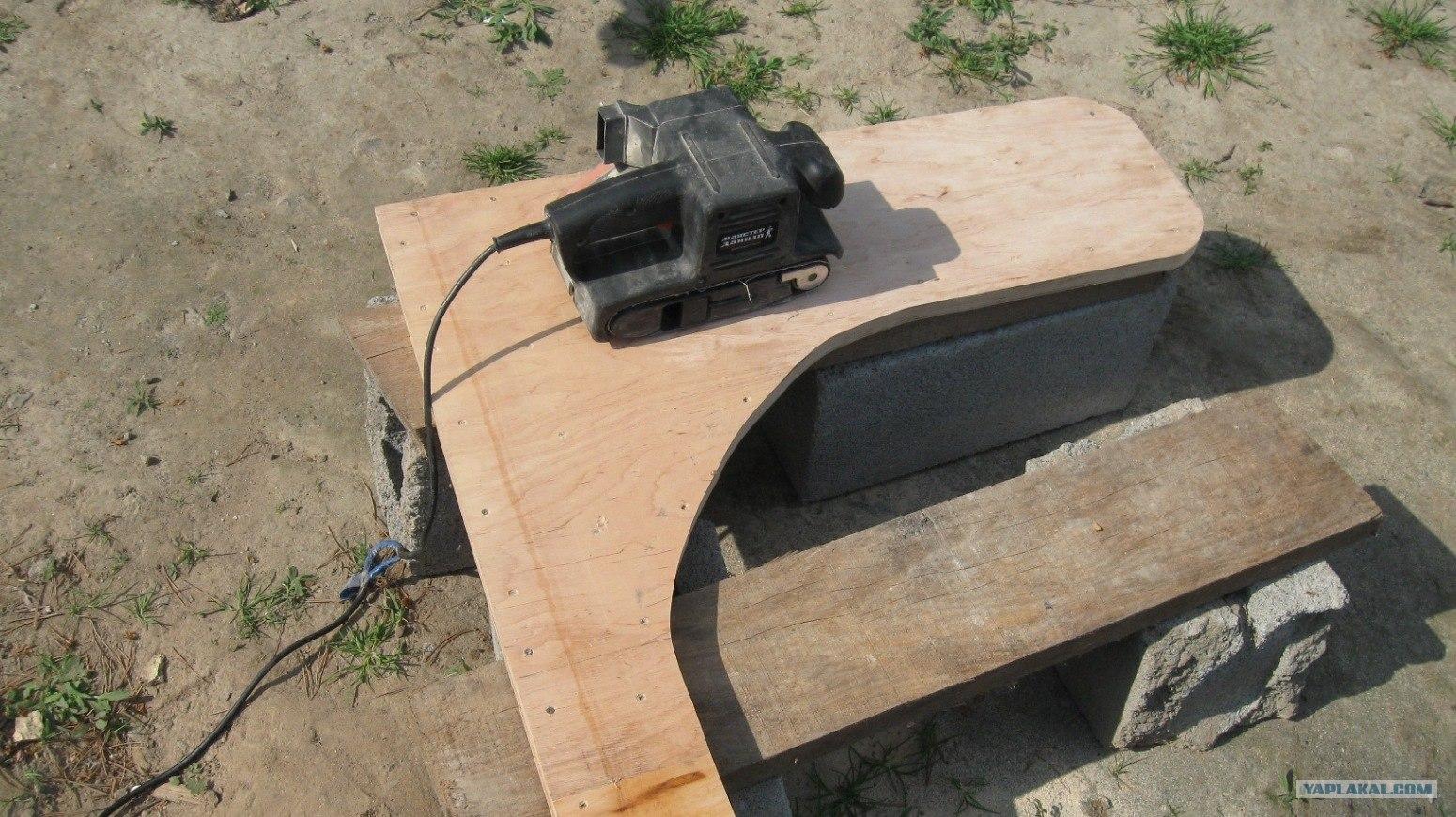 На фото - шлифмашинка для обработки заготовки