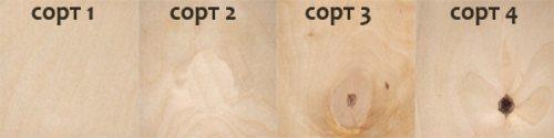 На фото – сравнение разных сортов фанеры