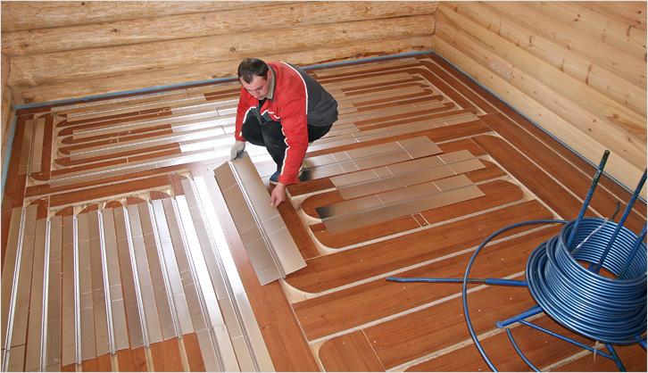 Теплый пол своими руками в деревянном доме фото