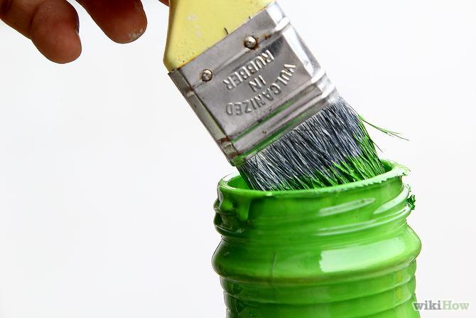 Набор краски на кисть