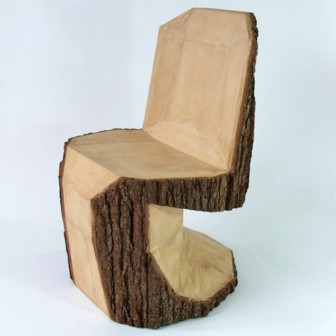 Необычное рублёное кресло
