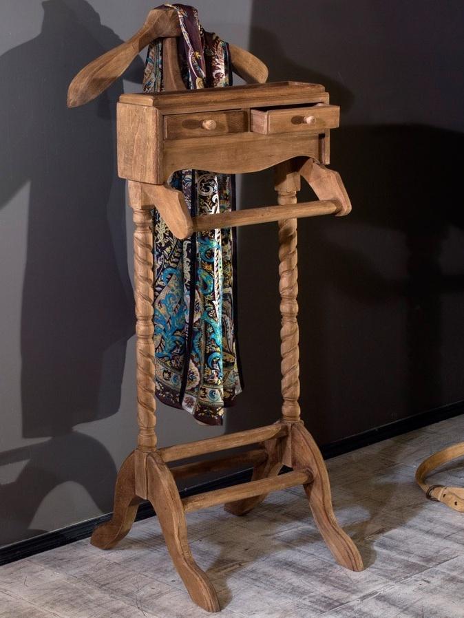 Вешалка для одежды напольная из натурального дерева фирмы