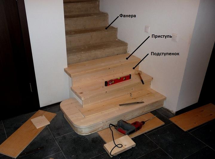 Облицовка лестниц деревом позволяет повысить их эстетичность