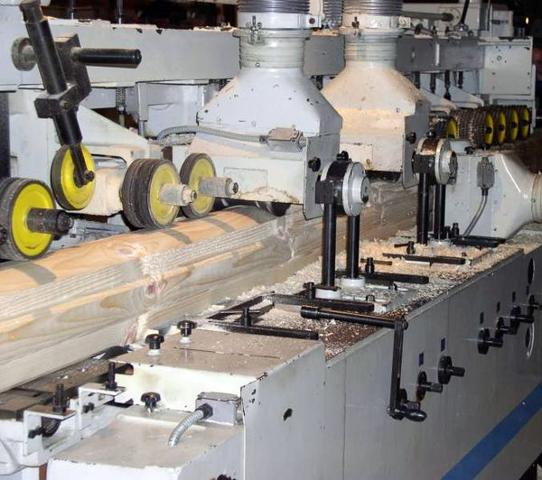 Изготовление профилированного бруса своими руками